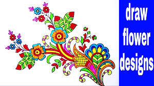 Flowers Designs For Drawing Simple Flowers Designs Sketch For Hand Embroidery Saree Patterns