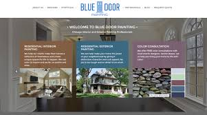 blue door painting professional house painting in chicago
