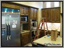 Stained Hickory Cabinets Kitchen Remodeling And Custom Cabinetry Santa Clarita Ca