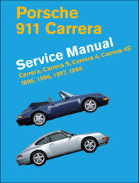 porsche 911 carrera type 993 service manual 1995 1996 1997