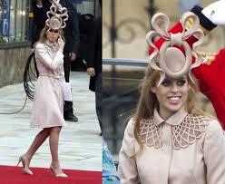 chapeau pour mariage la princesse beatrice vend chapeau porté pour le mariage de