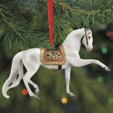2 2001 breyer carousel ornament porcelain breyer