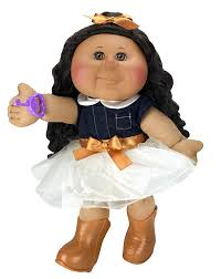amazon com cabbage patch kids 14 inch kid tan brunette doll
