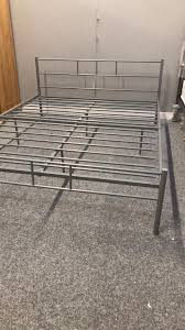 brand new cheap double silver bed frame in falkirk gumtree