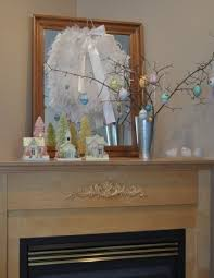 Easter Mantel Decorating Ideas Pinterest by 59 Best Easter Mantels Images On Pinterest Easter Decor