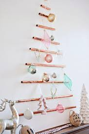 diy wall mounted copper pipe christmas tree a joyful riot