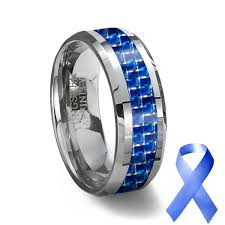 blue tungsten rings images Tungsten carbide ring blue carbon fiber inlay blue wedding ring jpg