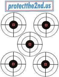 printable target 9 star bullseye shooting range printables