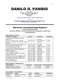 commissioning engineer pds danilo d pambid electrical commissioning engineer