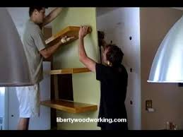Heavy Duty Floating Shelves by Solid Wood Floating Shelves Youtube