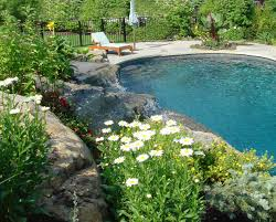 Landscaping Around A Pool by Swimming Pool Landscaping Ideas Inground Pools Nj Design Pictures