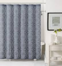 Gray Shower Curtains Fabric Slate Gray Fabric Shower Curtain White Circle Swirl Embroidery
