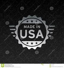 Flags Made In Usa Made In Usa Flag Icon Concept Metallic Badge Design Stock Vector