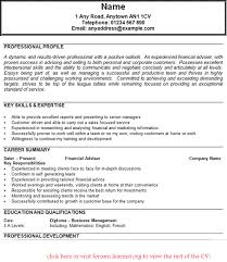 Financial Advisor Resume Examples by 19 Skills And Qualifications Resume Example Effective Cv