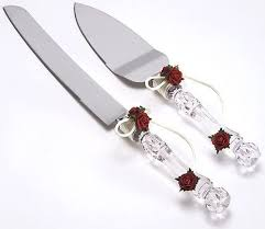 wedding cake knife wedding cake knife and server set with roses