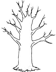 no colour tree clipart