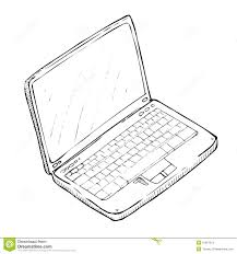 hand drawing laptop stock vector image of hands network 15067313