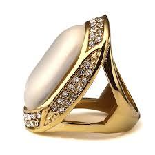 aliexpress buy nyuk gold rings bling gem titanium big with rhinestones rings trendsetter hip hop