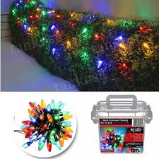 led bulb lights string 40 multi colour chasing decor