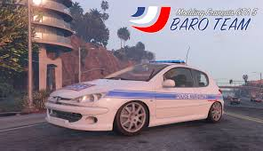 peugeot 206 2016 peugeot 206 pn pm gn french police services 206 gta5 mods com
