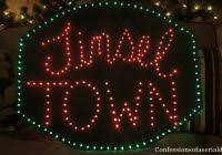 merry lighted lawn sign lighting ideas