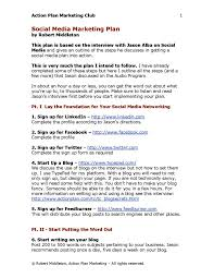 Starting A Business Plan Template The Power Of Social Media Marketing In Small Business Free