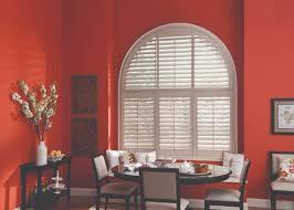 decorating hunter douglas custom blinds with wooden shutters for