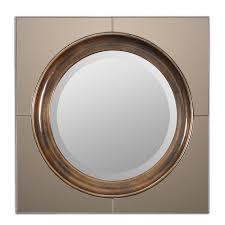 Circle Wall Mirrors Uttermost Gouveia Round Wall Mirror Um 12855 Shine Mirrors