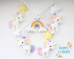 unicorn mobile baby mobile baby crib mobile unicorns