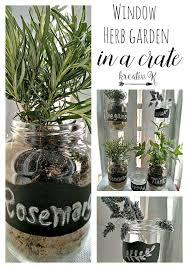 window herb harden window herb garden in a crate kreativk