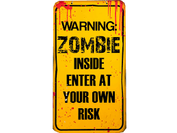 halloween warning zombie plaque party sign decoration apocalypse