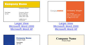 microsoft business card templates free blank and printable