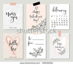 collection 8 cards valentines stock vector 569320312