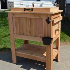 Decorative Coolers For The Patio by Best Seller Rustic Ice Chest Cooler Stand With Brass Drain