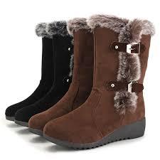 womens mid calf boots nz winter fashion plush mid calf boots keep warm non slip