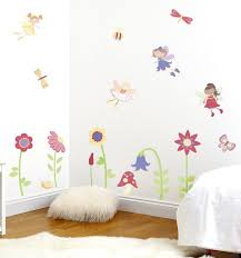 fairy garden wall decals girls bedroom decor fun rooms for kids enchanted fairy garden wall decals