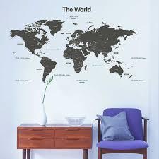 wandsticker weltkarte länder hauptstädte xxl tapetenwelt