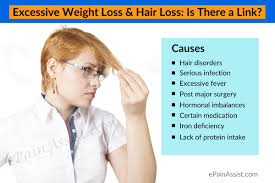 excessive weight loss u0026 hair loss is there a link