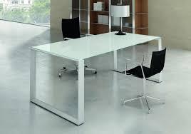bureaux direction mobilier en verre blanc seven 2