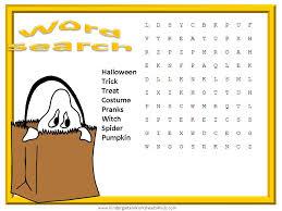 halloween worksheets games activities printables