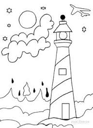 lighthouse coloring pages print picture lighthouse fun