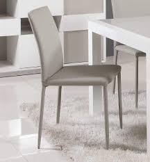 Italian Leather Dining Chairs Contemporary Simple Italian Design Leather Dining Chair In Grey