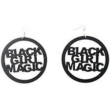 black girl earrings black girl magic earrings hair american woman