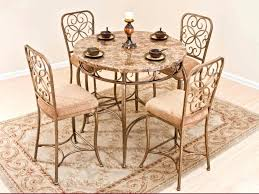 cozy brown kitchen dining room sets from iron fancy dining room