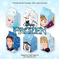 6 frozen disney printable milk box template favor box nedti