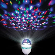 led disco ball light colorful rotating led disco ball light bulb fits most fixtures party