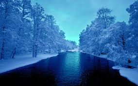 blue river white trees wallpapers blue river white