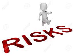 Challenge Risks Challenge Risks Showing Times And Hazards 3d Rendering Stock