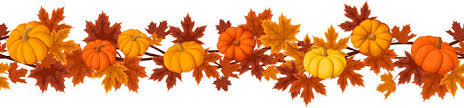 thanksgiving pumpkins horizontal border seamless stock vector