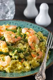 shrimp and asparagus saffron risotto easy and oh so delicious
